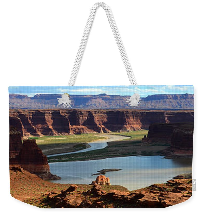 Colorado River Weekender Tote Bag featuring the photograph Colorado River Panoramic by David Lee Thompson