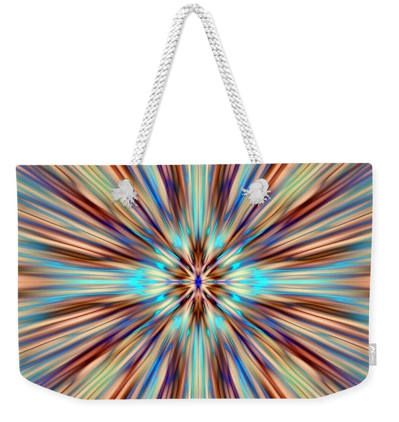 Abstract Weekender Tote Bag featuring the digital art Colorful Abstract by Cassie Peters