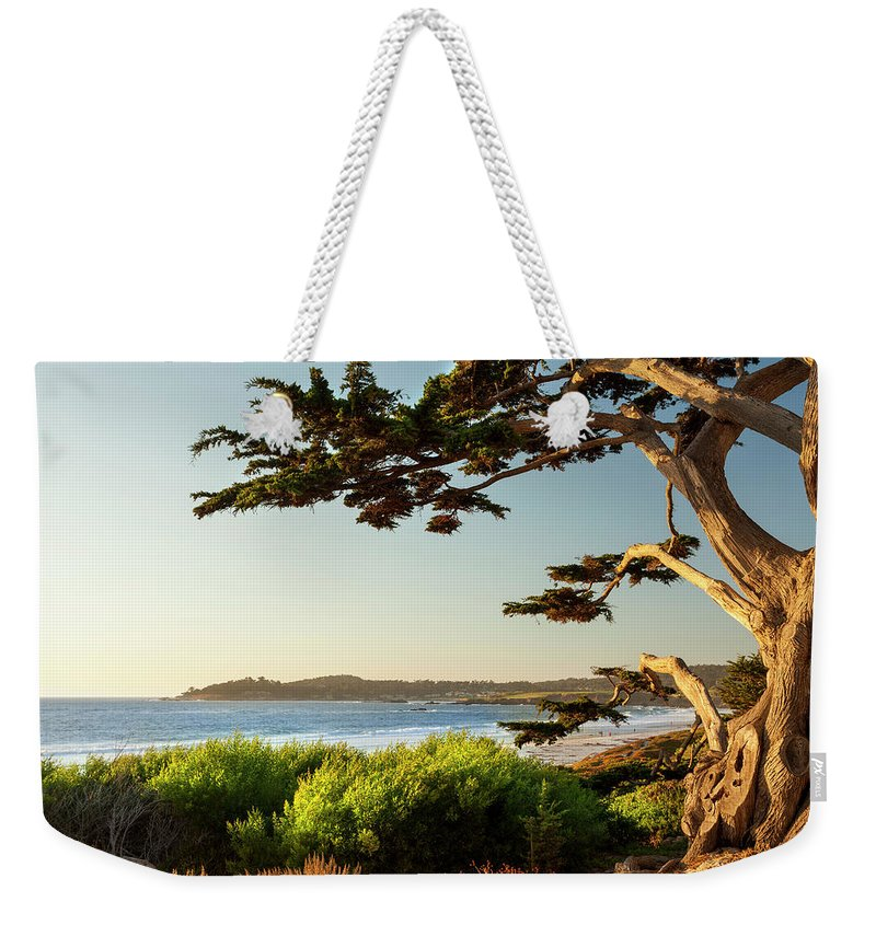 Scenics Weekender Tote Bag featuring the photograph Colorful Beachfront In Carmel-by-the-sea by Pgiam