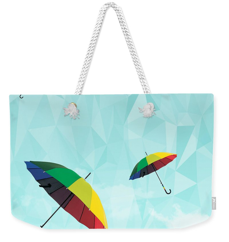 Contemporary Weekender Tote Bag featuring the photograph Colorful Day by Mark Ashkenazi