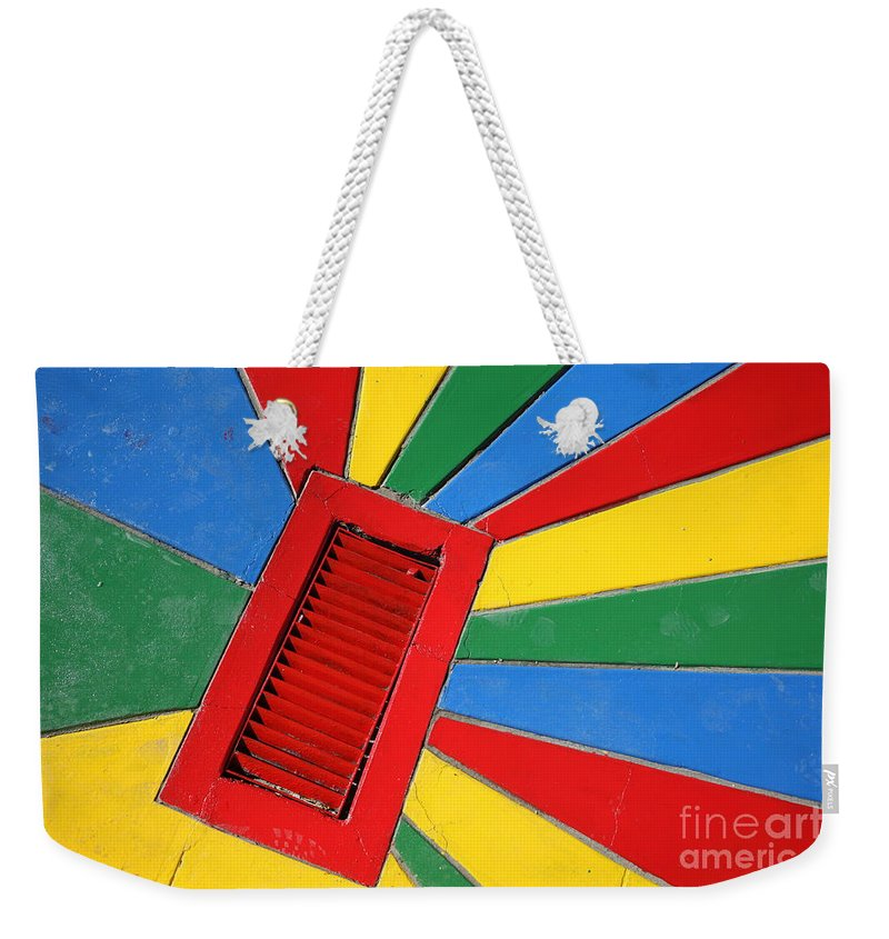 Drain Weekender Tote Bag featuring the photograph Colorful Drain by James Brunker