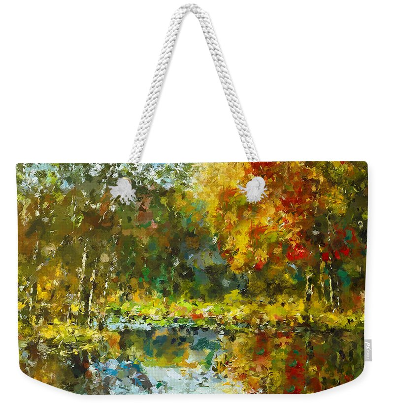 Abstract Expressionism Weekender Tote Bag featuring the painting Colorful Dreams by Georgiana Romanovna