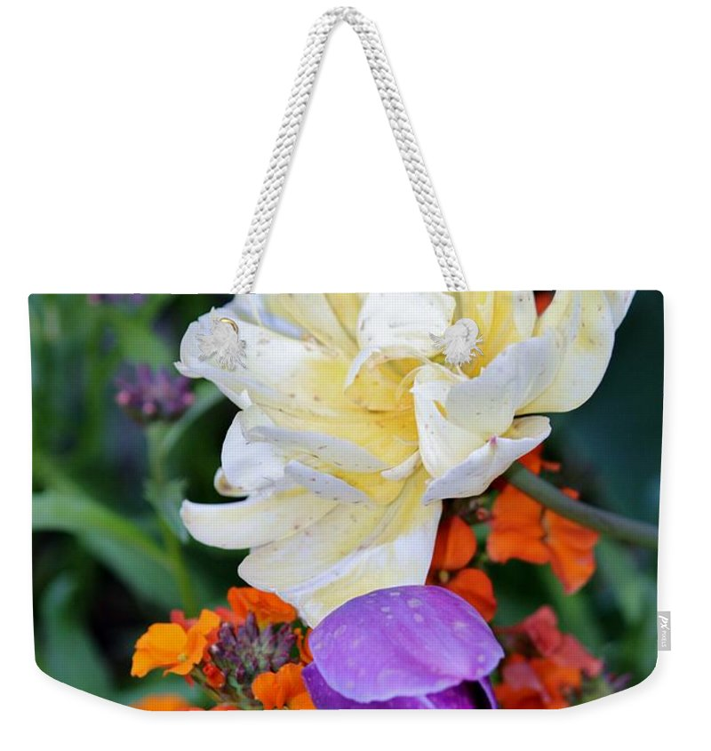 Flower Weekender Tote Bag featuring the photograph Colorful Flowers by Cynthia Guinn