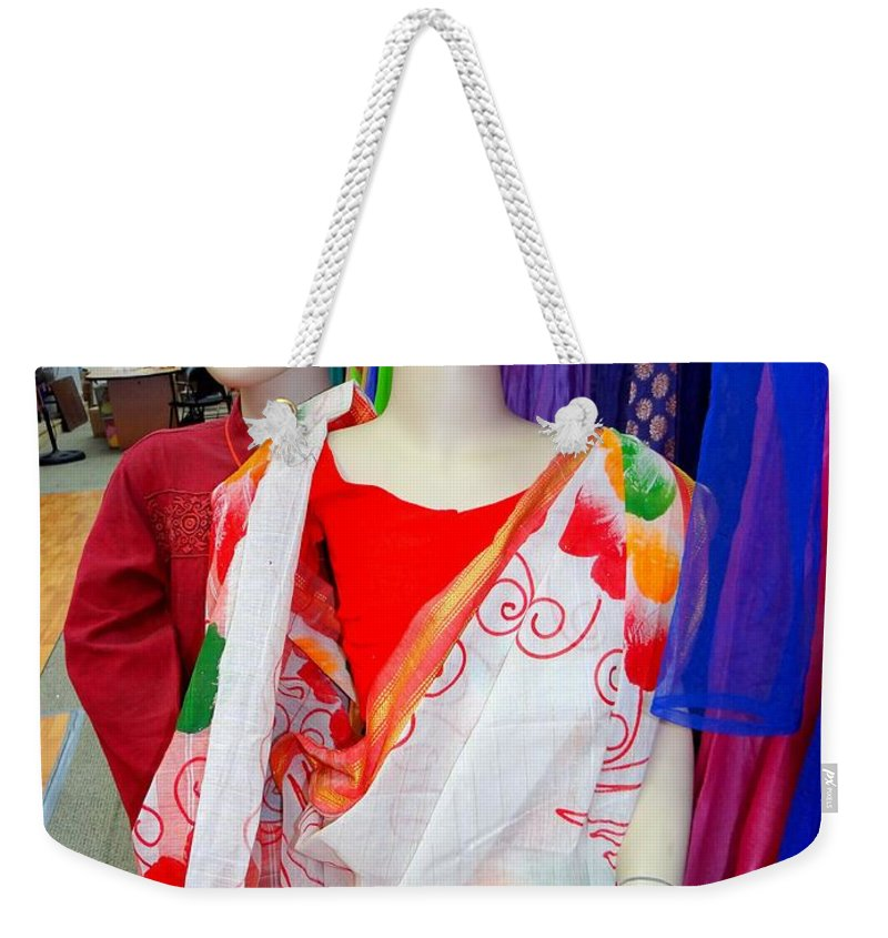 Mannequins Weekender Tote Bag featuring the photograph Colorful Kids by Ed Weidman