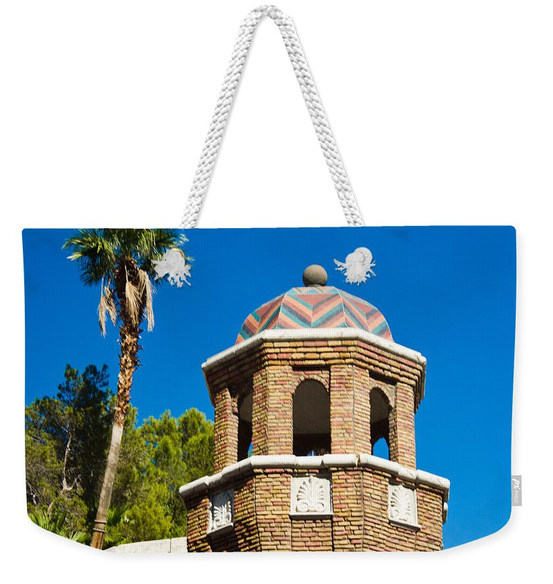Colorful Weekender Tote Bag featuring the photograph Colorful Tropical Tower by Douglas Barnett