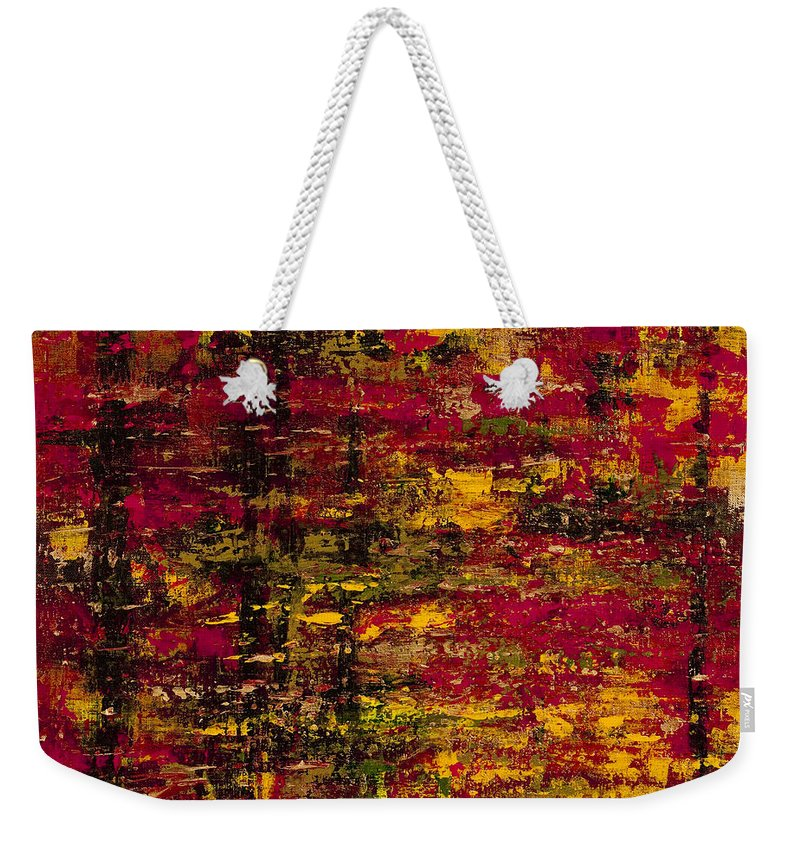 Autumn Colors Weekender Tote Bag featuring the painting Colors Of Autumn by Darice Machel McGuire