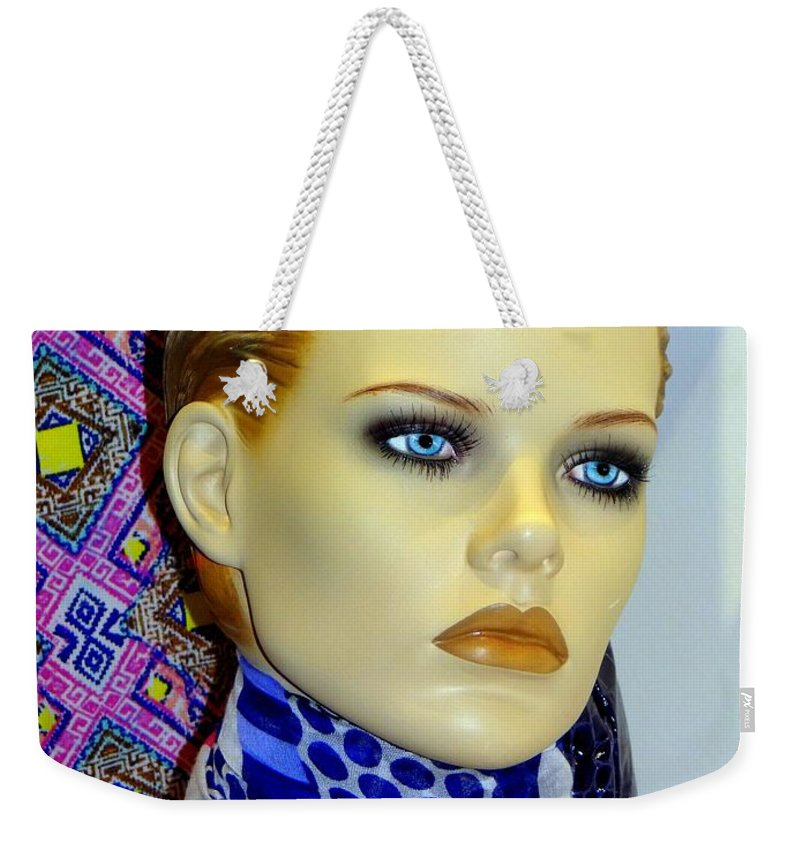 Mannequins Weekender Tote Bag featuring the photograph Colors Of Beauty by Ed Weidman