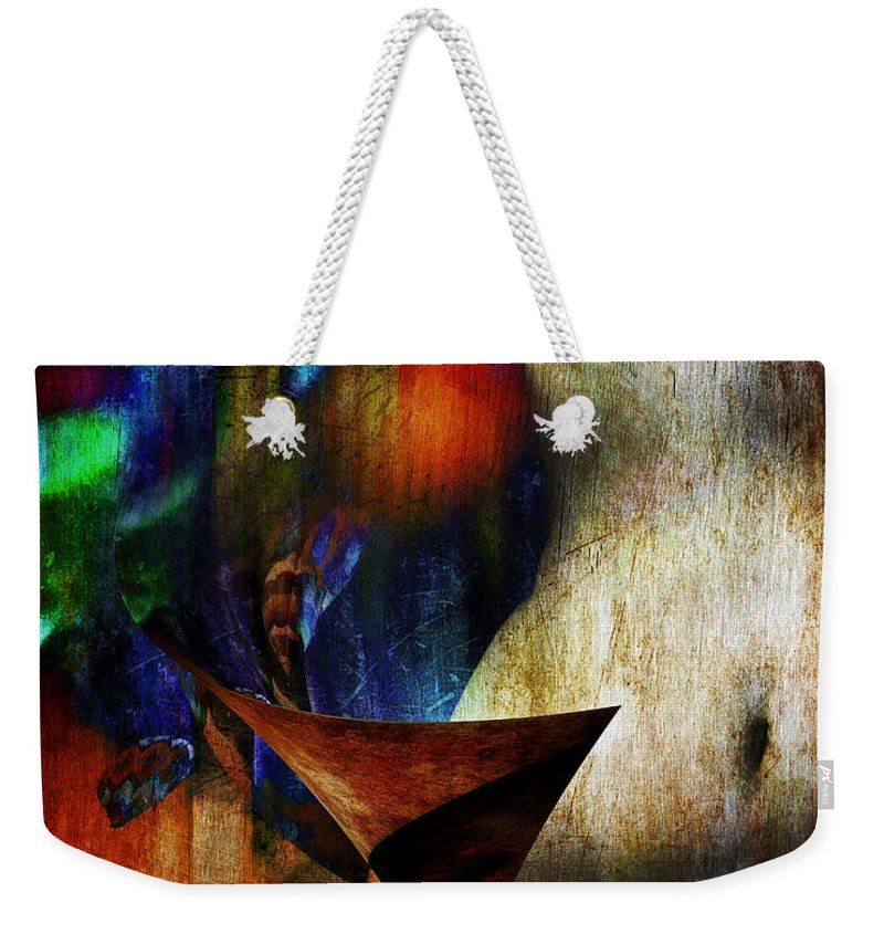 Abstract Weekender Tote Bag featuring the digital art Colors Of Eve by Edmund Nagele