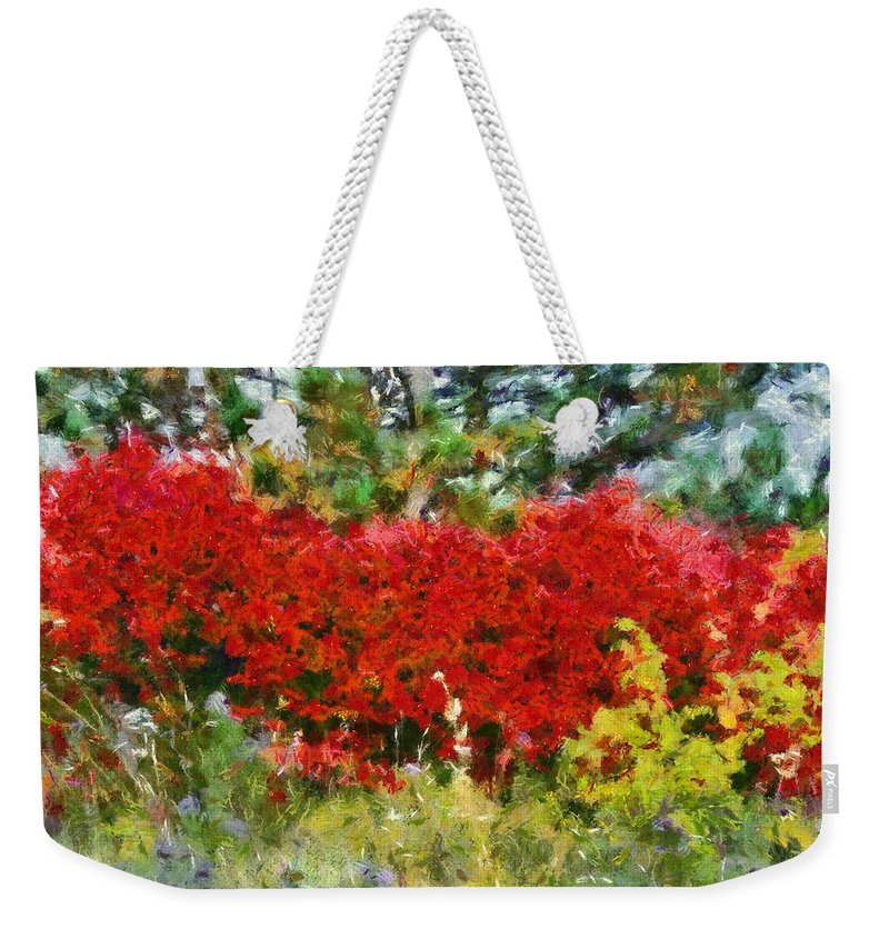 Colors Of Life Weekender Tote Bag featuring the painting Colors Of Life by Dan Sproul