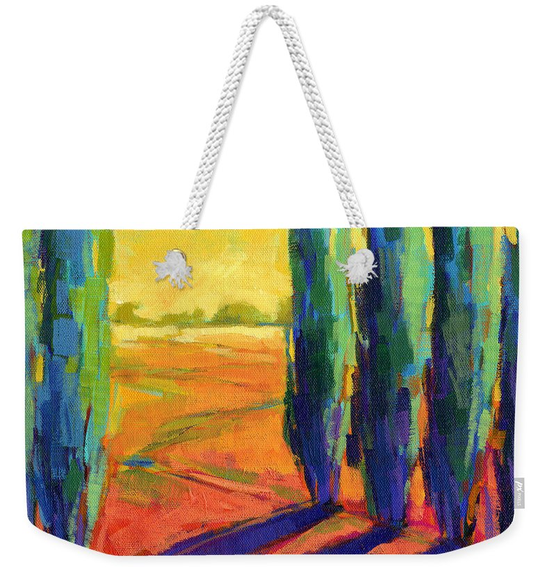 Landscape Weekender Tote Bag featuring the painting Colors Of Summer 3 by Konnie Kim