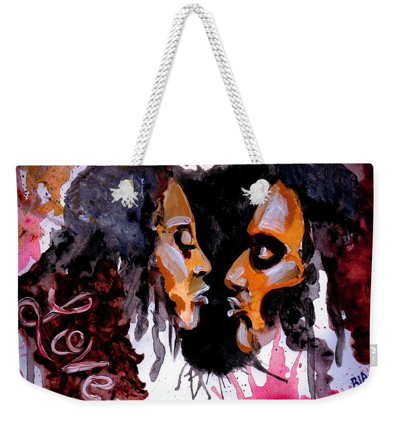 Black Weekender Tote Bag featuring the photograph Colossians 3 vs 14 by Artist RiA