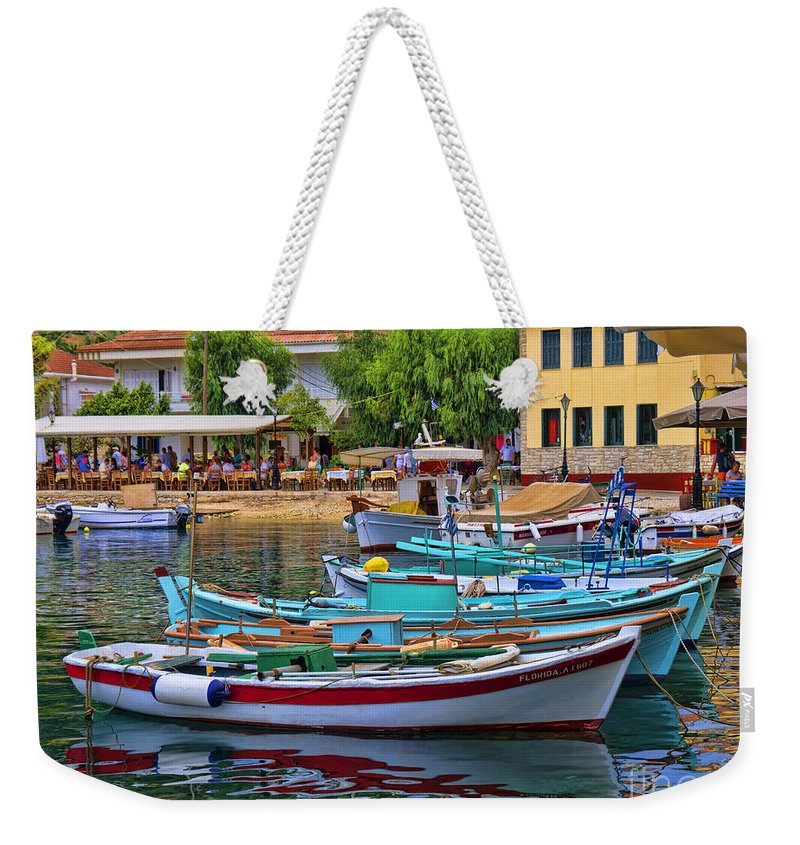 Kefalonia Weekender Tote Bag featuring the photograph Colours Of Greece by Gillian Singleton