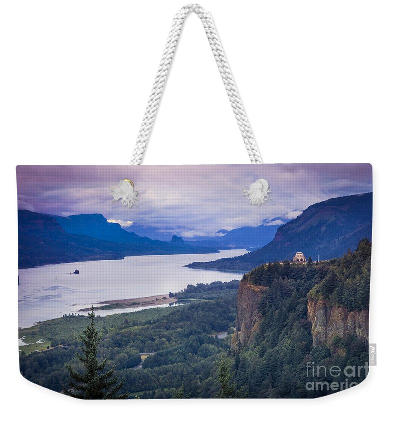 America Weekender Tote Bag featuring the photograph Columbia River Gorge by Brian Jannsen