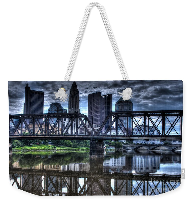 Columbus Weekender Tote Bag featuring the photograph Columbus Ohio Downtown IIi by J M Lister