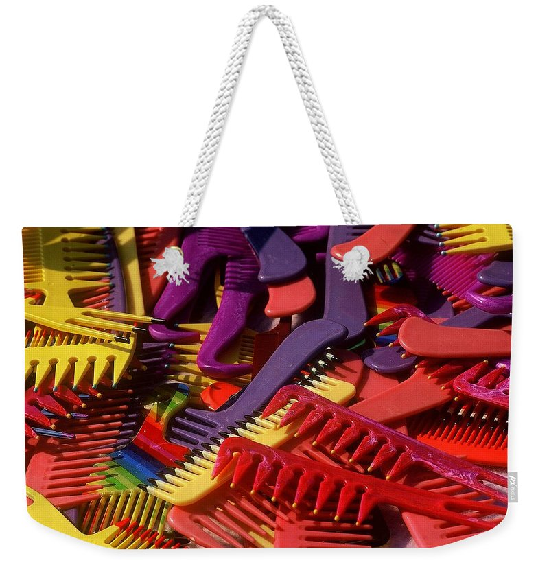 Abstracts Weekender Tote Bag featuring the photograph Combs by Rodney Lee Williams