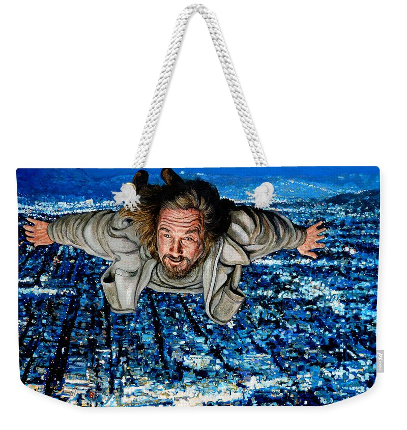 Come Fly With Me Weekender Tote Bag featuring the painting Come Fly With Me by Tom Roderick