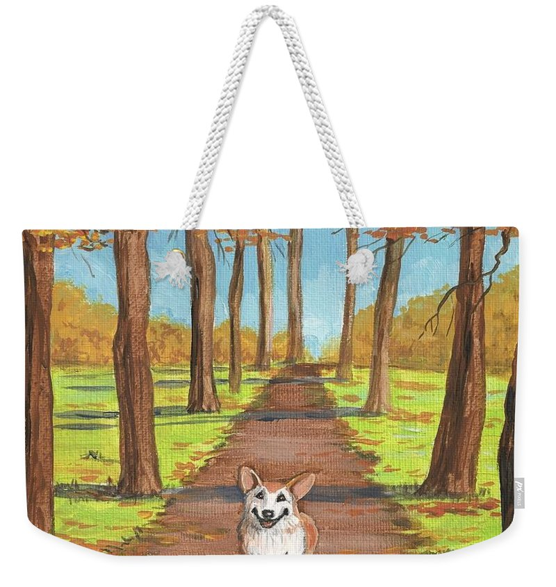 Ryta Weekender Tote Bag featuring the painting Come Here My Little Maple Leaf by Margaryta Yermolayeva