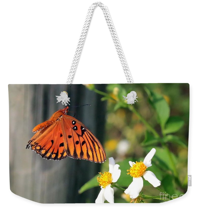 Butterfly Weekender Tote Bag featuring the photograph Come To Me by Carol Groenen