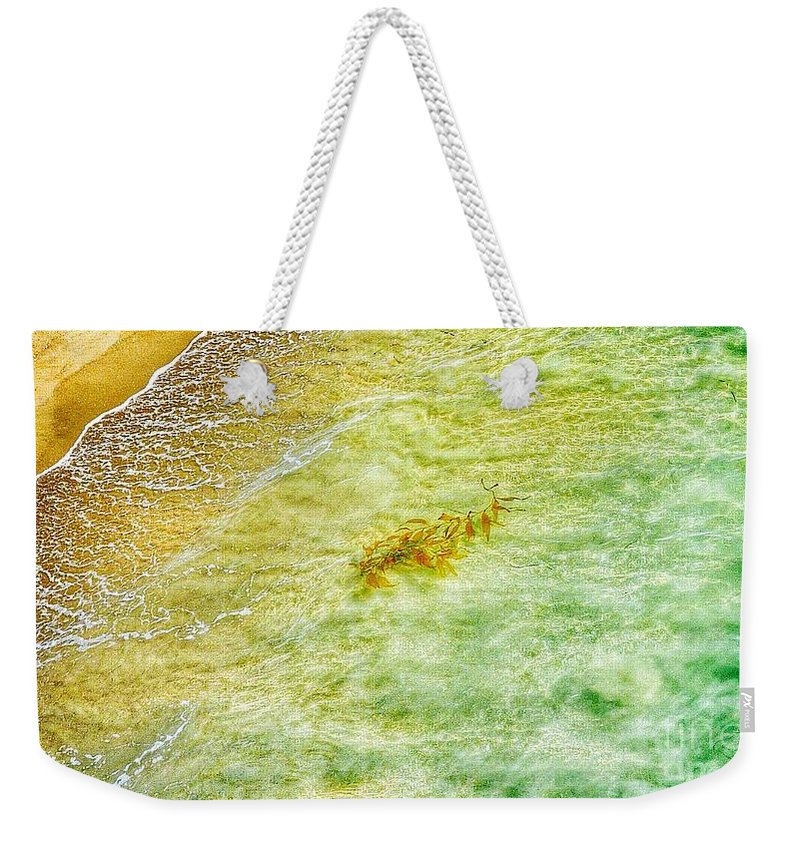 Waves Weekender Tote Bag featuring the photograph Coming Ashore by Susan Garren