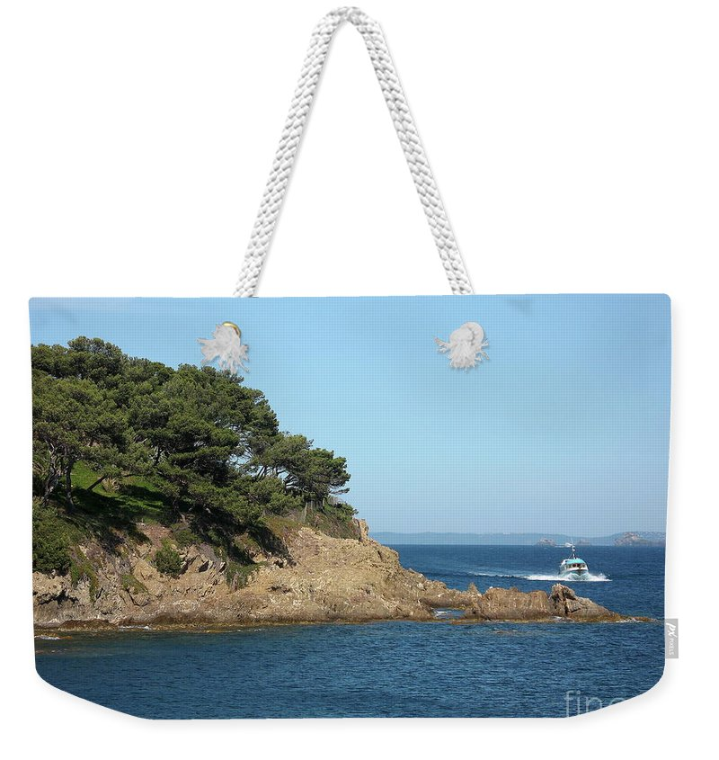 Fishing Boat Weekender Tote Bag featuring the photograph Coming Back by Christiane Schulze Art And Photography