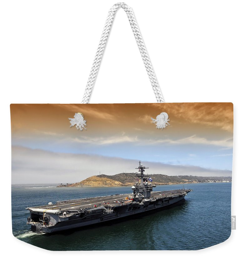San Diego Weekender Tote Bag featuring the photograph Coming Home by Mountain Dreams