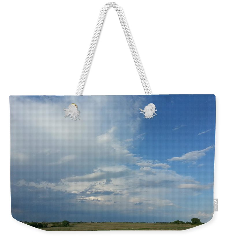 Weather Weekender Tote Bag featuring the photograph Coming Weather by Caryl J Bohn