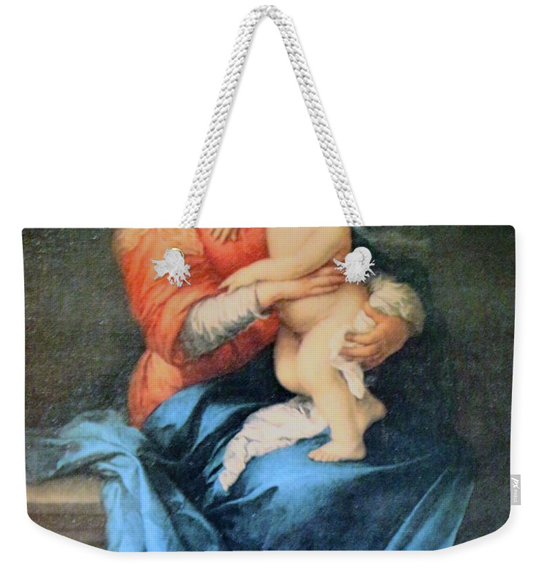 Mary Weekender Tote Bag featuring the photograph Commitment by Munir Alawi