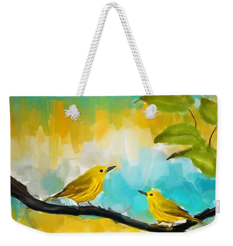 Warbler Weekender Tote Bags