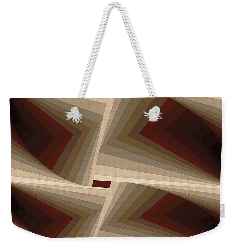 Tablet Weekender Tote Bag featuring the painting Composition 162 by Terry Reynoldson