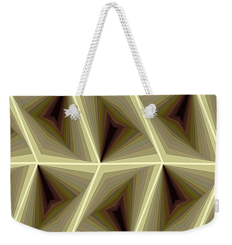 Tablet Weekender Tote Bag featuring the digital art Composition 295 by Terry Reynoldson