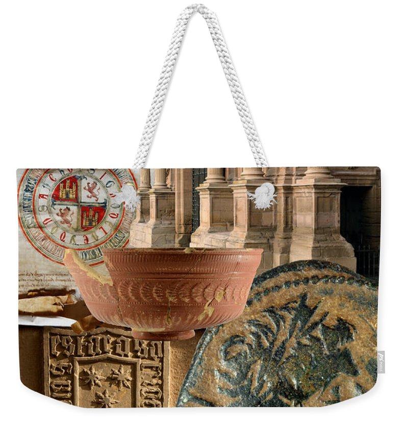 Calahorra Weekender Tote Bag featuring the photograph Composition For Poster Xiv Jornadas De Estudios Calagurritanos by RicardMN Photography