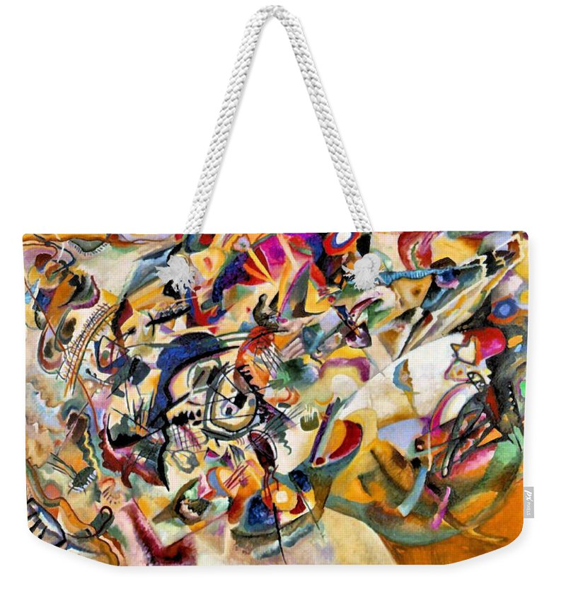 Wassily Kandinsky Weekender Tote Bag featuring the painting Composition Vii by Wassily Kandinsky