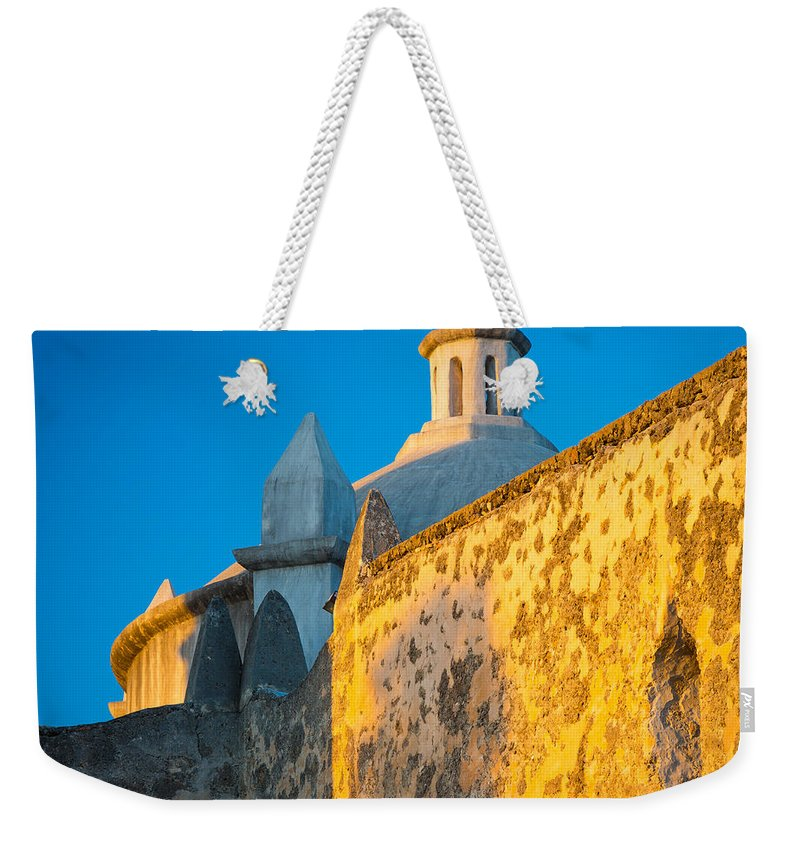 America Weekender Tote Bag featuring the photograph Concepcion Walls by Inge Johnsson