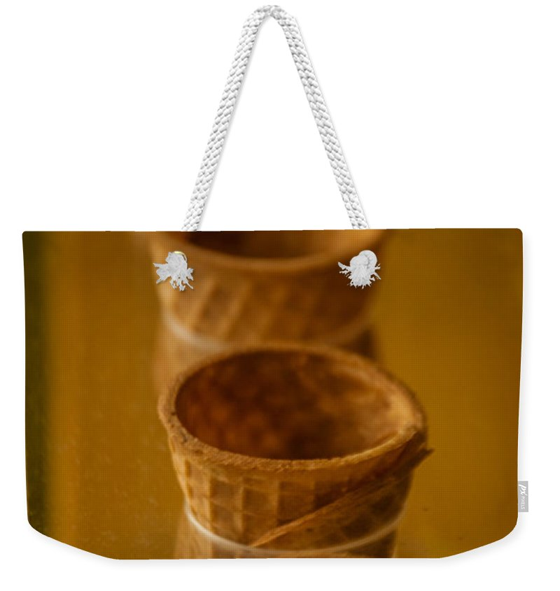 Ice Cream Cones Weekender Tote Bag featuring the photograph Cones On Display by Jon Cody