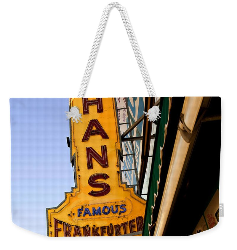 Original Nathans Weekender Tote Bag featuring the photograph Coney Island Memories 1 by Madeline Ellis