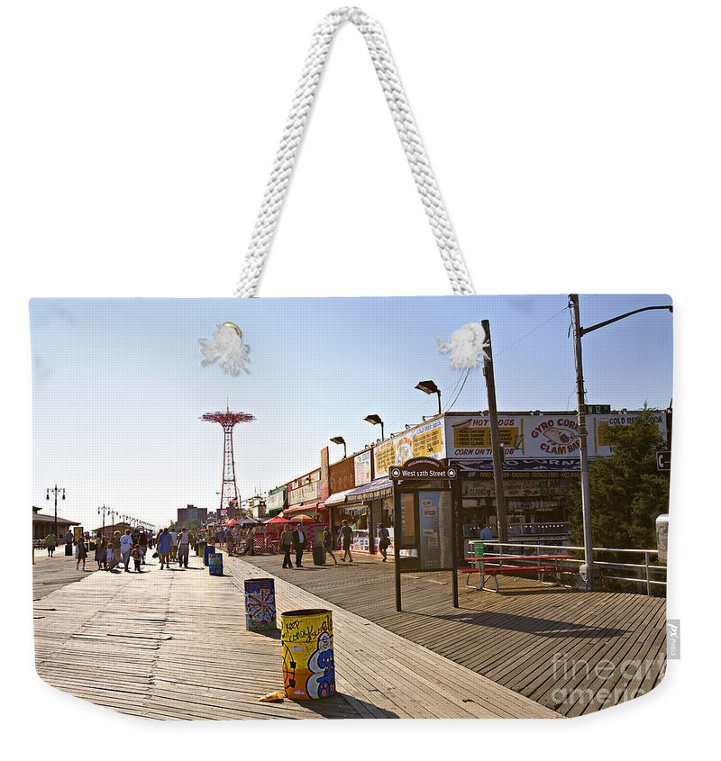 Coney Island Weekender Tote Bag featuring the photograph Coney Island Memories 8 by Madeline Ellis