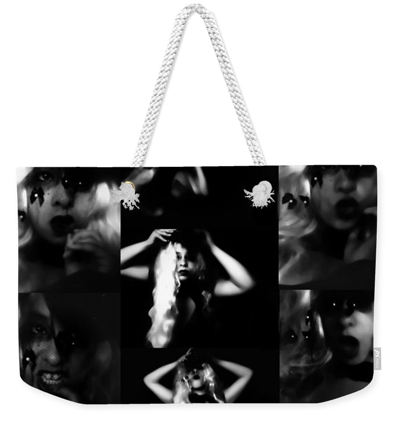 Black Weekender Tote Bag featuring the photograph Confessions by Jessica Shelton