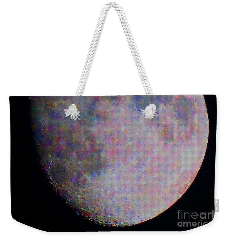 Moon Weekender Tote Bag featuring the photograph Confetti Moon by Alan Look