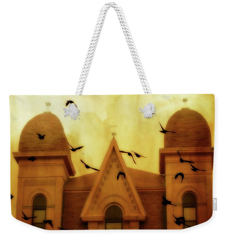 Church Weekender Tote Bag featuring the photograph Congregation by Gothicrow Images