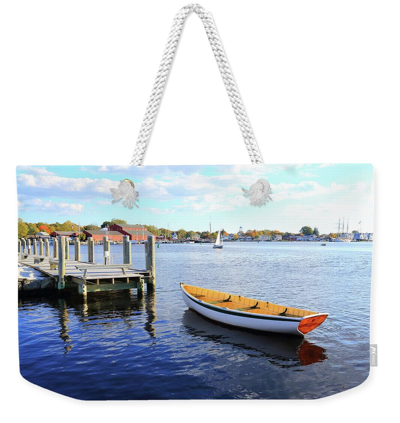 Steps Weekender Tote Bag featuring the photograph Connecticut Mystic Seaport by Shunyufan