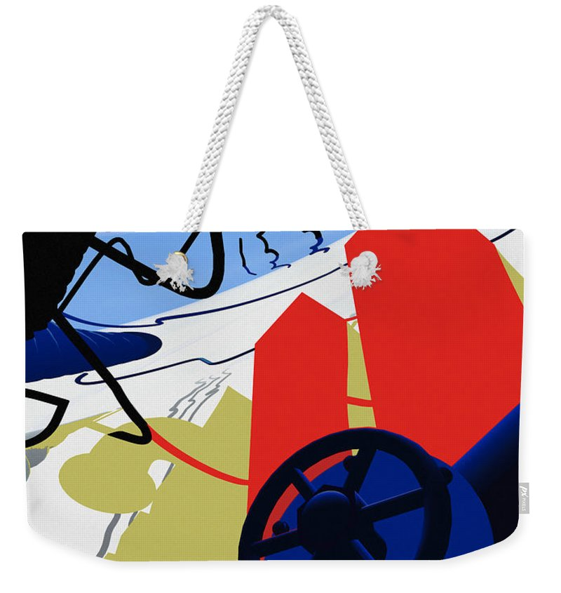 Abstract Weekender Tote Bag featuring the digital art Connections by Richard Rizzo