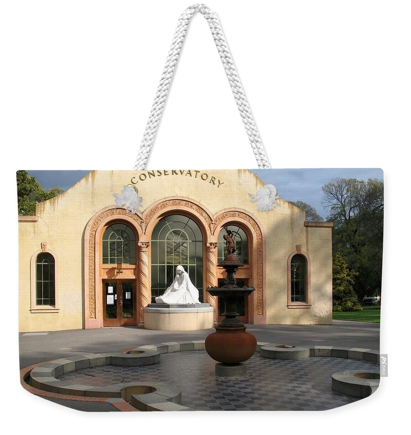 Architecture Weekender Tote Bag featuring the photograph Conservatory Gardens Sunny Facade by Ian Mcadie