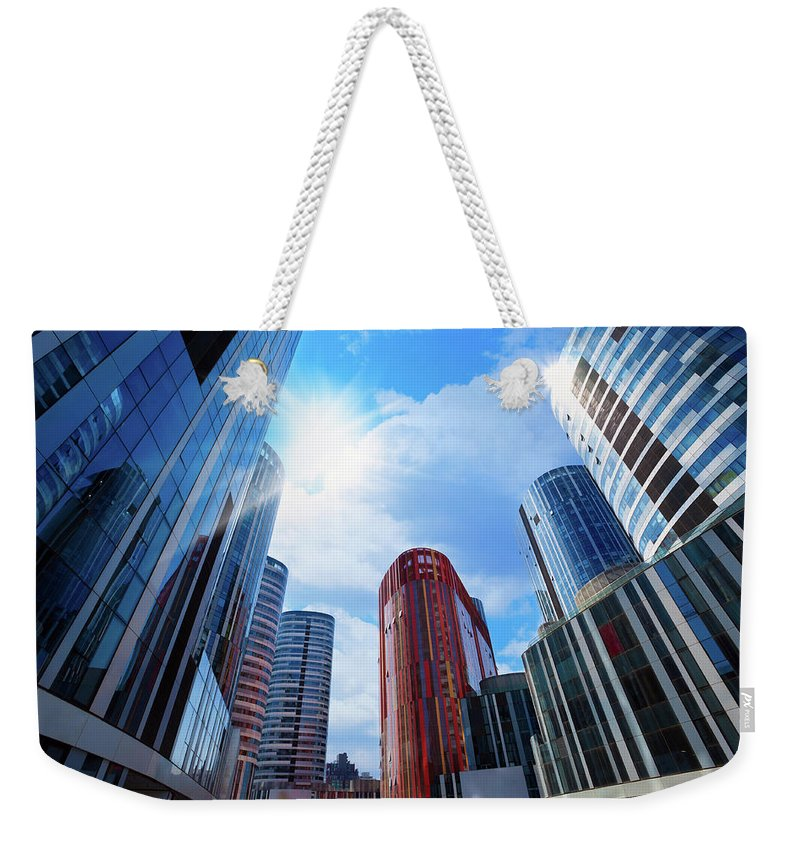 Chinese Culture Weekender Tote Bag featuring the photograph Contemporary Building by Ithinksky