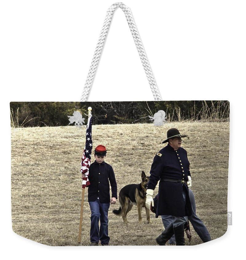 Weekender Tote Bag featuring the photograph Contest Temp 1 by John Straton