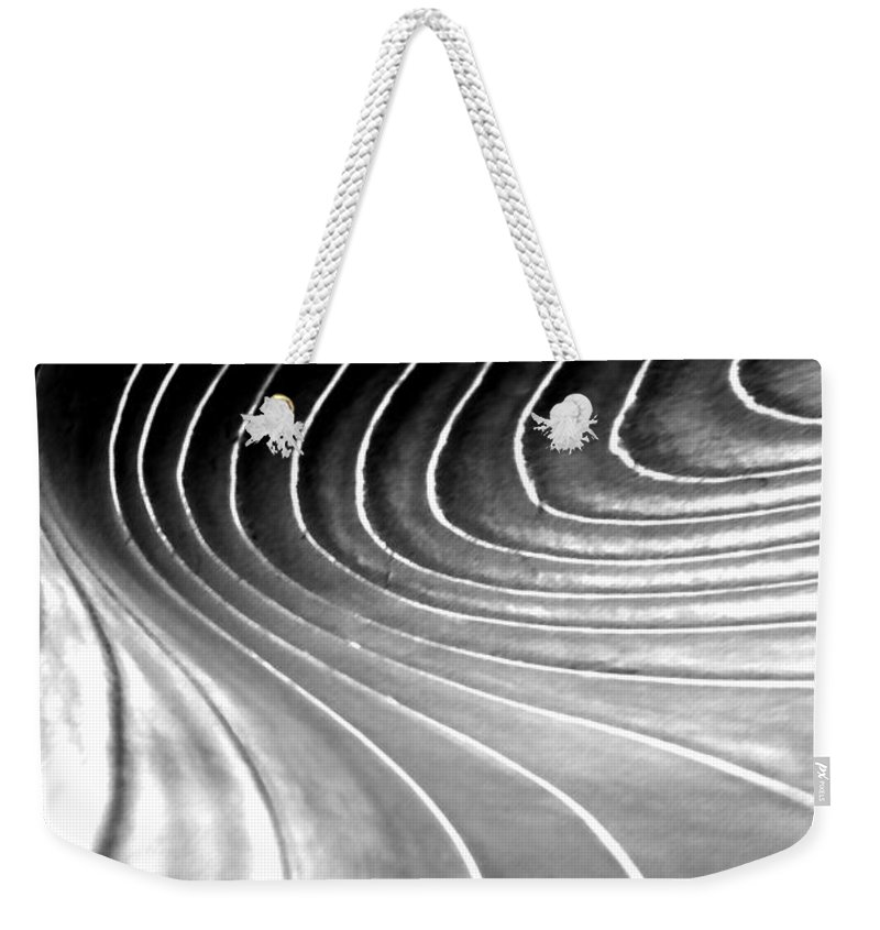 Light Weekender Tote Bag featuring the digital art Contours 9 by Wendy Wilton
