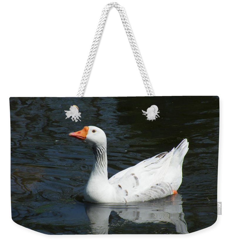 Photography Weekender Tote Bag featuring the photograph Contrasting Goose by Gilbert Pennison