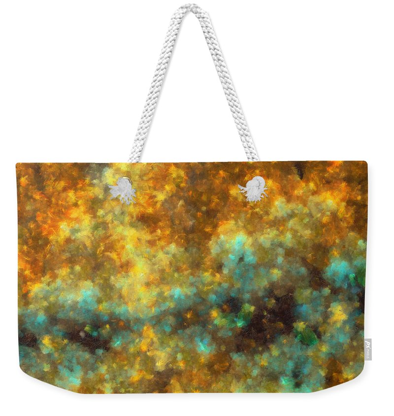 Bruise Weekender Tote Bag featuring the digital art Contusion-01 by RochVanh