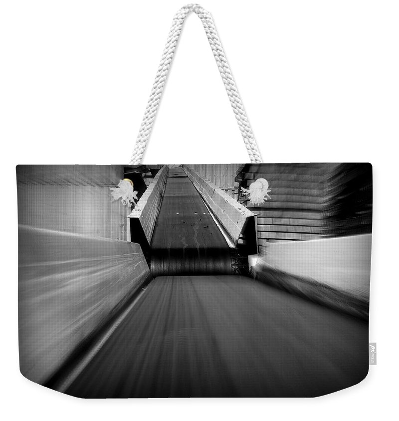 Hopper Weekender Tote Bag featuring the photograph Conveyor 2 by Guy Pettingell