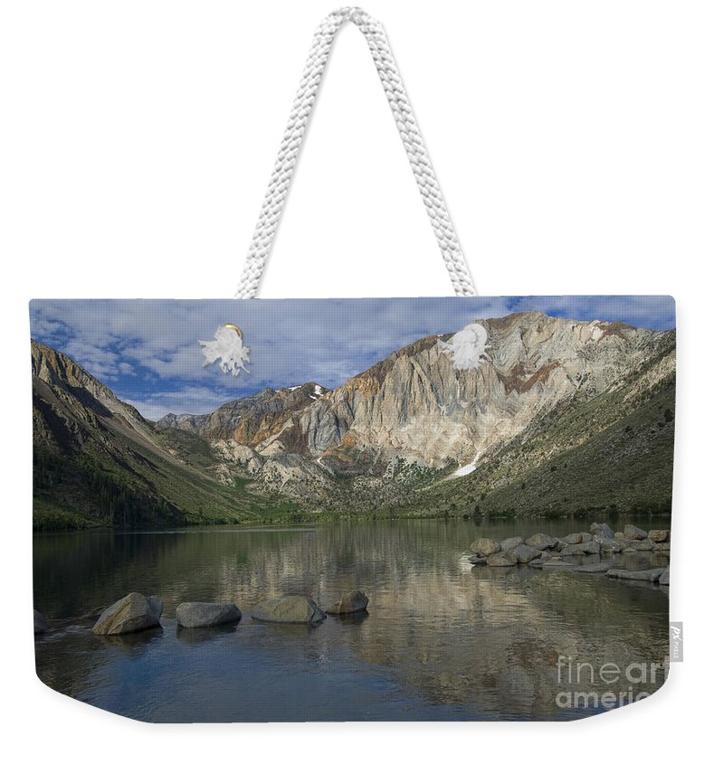 Convict Lake Weekender Tote Bag featuring the photograph Convict Lake Reflection by Sandra Bronstein