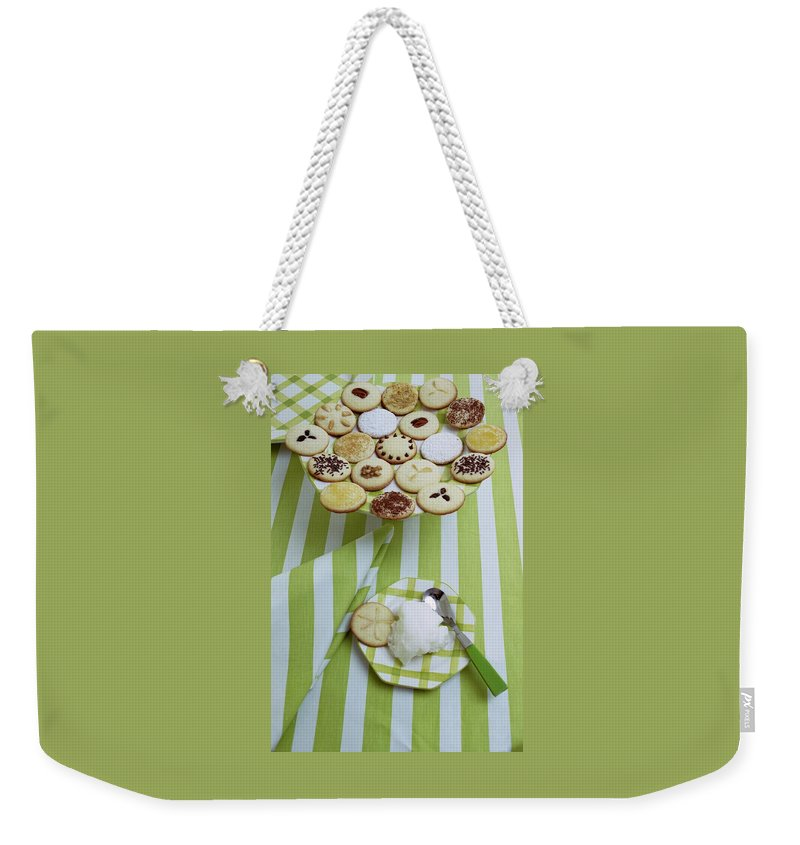 Holiday Weekender Tote Bag featuring the photograph Cookies And Icing by Susan Wood